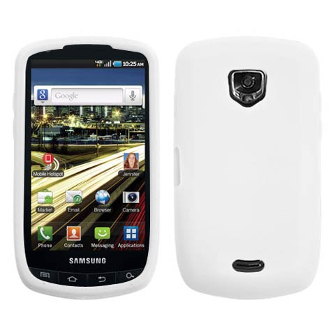 Frost White Silicone Skin Cover for Samsung Droid Charge