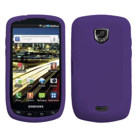 Purple Silicone Skin Cover for Samsung Droid Charge