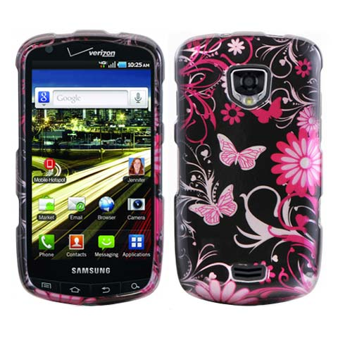 Pink Butterflies Hard Case for Samsung Droid Charge
