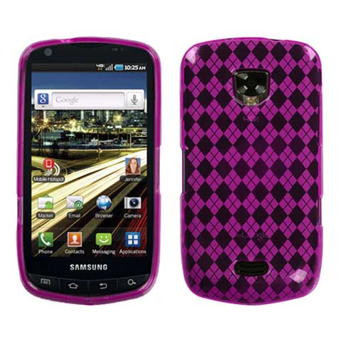 Pink Argyle TPU Case for Samsung Droid Charge