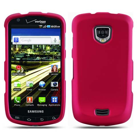 Pink Rubberized Hard Case for Samsung Droid Charge