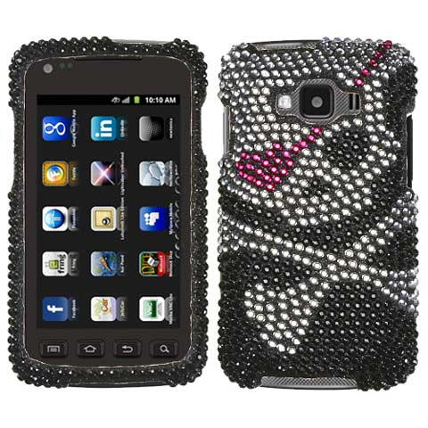Pirate Skull Crystal Rhinestones Bling Case for Samsung Rugby Smart