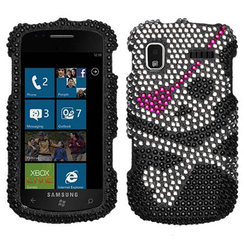 Pirate Crystal Rhinestones Bling Case for Samsung Focus