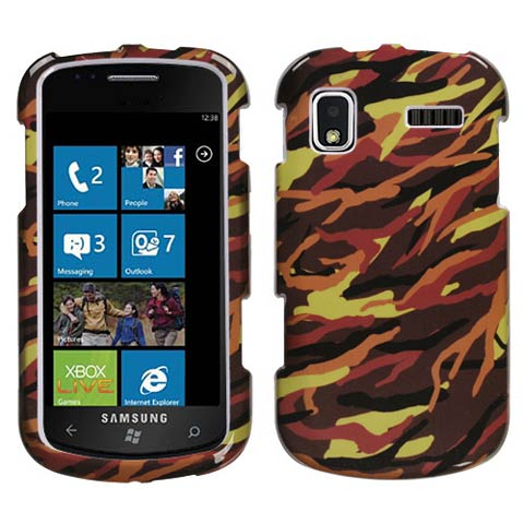 Brown Camouflage Hard Case for Samsung Focus