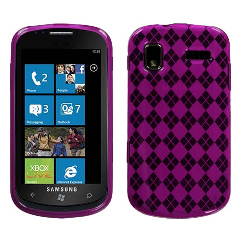 Hot Pink Argyle TPU Case for Samsung Focus
