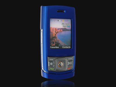 Samsung M520 Rubberized Snap On Faceplate Case (Blue)