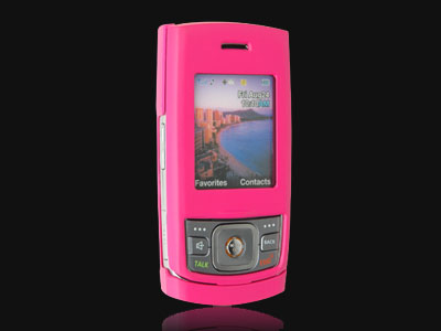 Samsung M520 Rubberized Snap On Faceplate Case (Hot Pink)