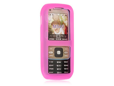 Samsung Rant SPH-m540 Silicone Skin Cover Case - Hot Pink