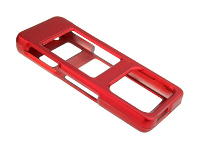 Samsung UpStage SPH-M620  Rubberized Faceplate Case (Red)