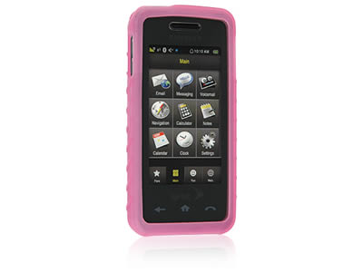 Samsung Instinct M800 Silicone Skin Cover Case - Hot Pink