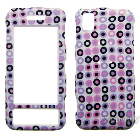 Samsung Instinct M800 Hard Cover Case - Circle Dots
