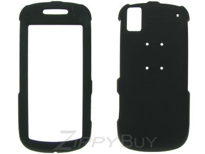 Samsung Instinct s30 SPH-M810 Rubberized Hard Cover Case - Black