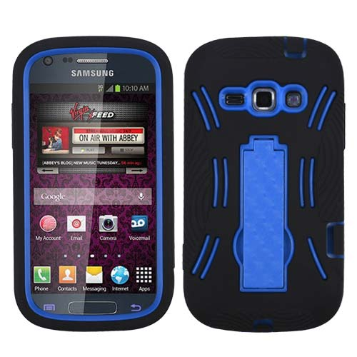 Black on Blue Symbiosis Dual Layer Hybrid Case for Samsung Galaxy Prevail 2
