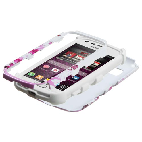 Pink Flowers Synergy Hybrid Case for Samsung Galaxy Prevail 2