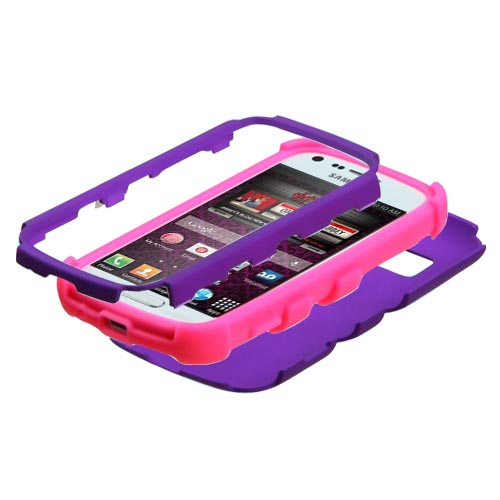 Purple and Pink Synergy Case for Samsung Galaxy Prevail 2