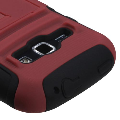 Red Armor Dual Layer Hybrid Case for Samsung Galaxy Prevail 2
