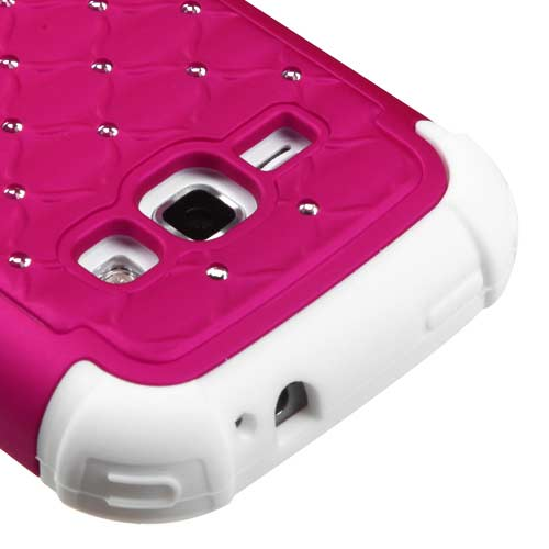 Pink Dazzler Defense Dual Layer Hybrid Case for Samsung Galaxy Prevail 2