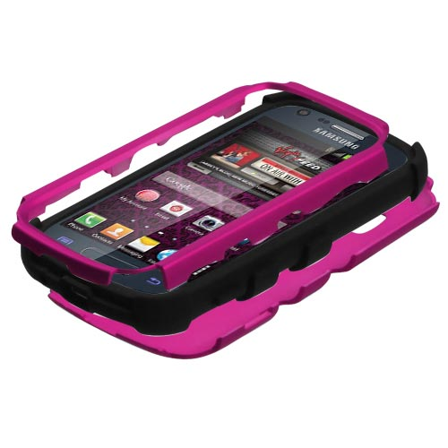 Hot Pink Synergy Hybrid Case for Samsung Galaxy Prevail 2