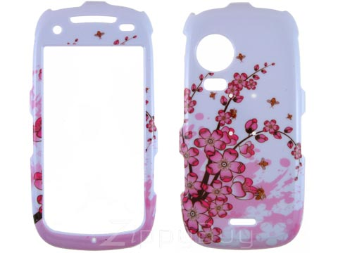 Samsung Instinct HD Hard Cover Case - Pink Flowers