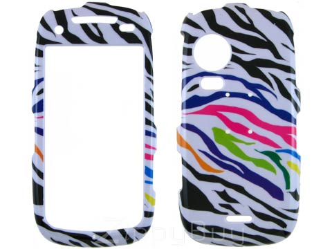 Samsung Instinct HD Hard Cover Case - Rainbow Zebra