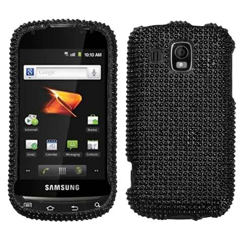 Black Crystal Rhinestones Bling Case for Samsung Transform Ultra