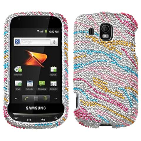 Colorful Zebra Crystal Rhinestones Bling Case for Samsung Transform Ultra