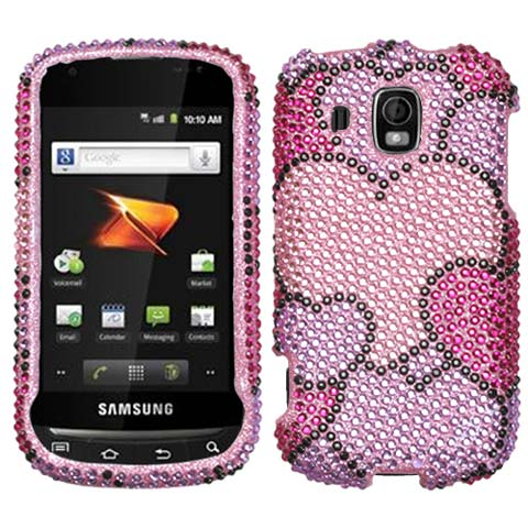 Full Of Heart Crystal Rhinestones Bling Case for Samsung Transform Ultra