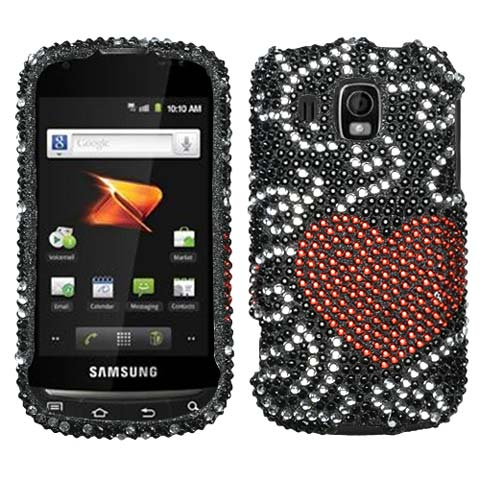 Heart Flutter Crystal Rhinestones Bling Case for Samsung Transform Ultra