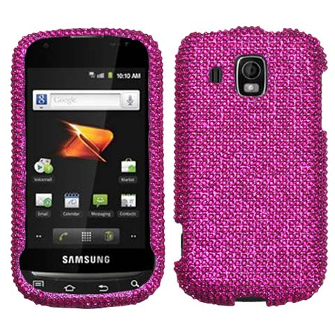 Hot Pink Crystal Rhinestones Bling Case for Samsung Transform Ultra