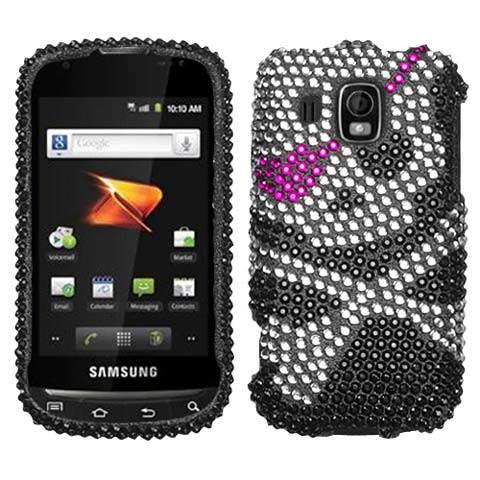 Pirate Skull Crystal Rhinestones Bling Case for Samsung Transform Ultra