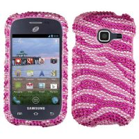 Pink Zebra Crystal Rhinestone Bling Case for Samsung Galaxy Centura