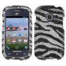 Zebra Crystal Bling Case for Samsung Galaxy Discover