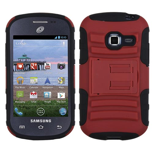 Red Armor Dual Layer Hybrid Case for Samsung Galaxy Discover