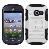 White Armor Dual Layer Hybrid Case for Samsung Galaxy Centura