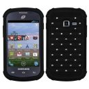 Black Dazzler Defense Dual Layer Hybrid Case for Samsung Galaxy Discover