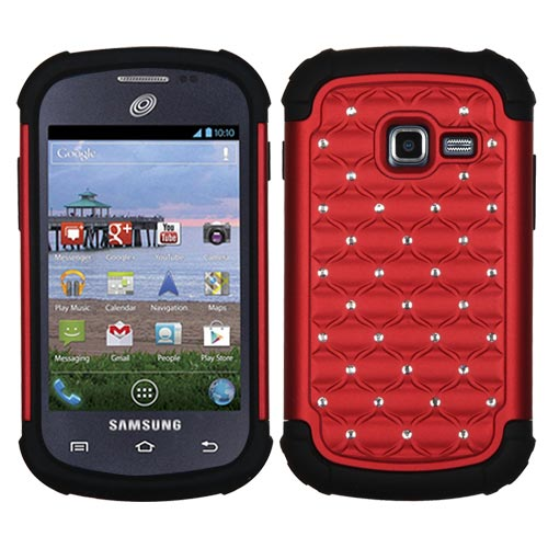Red Dazzler Defense Dual Layer Hybrid Case for Samsung Galaxy Discover