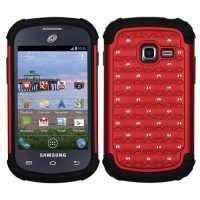 Red Dazzler Defense Dual Layer Hybrid Case for Samsung Galaxy Centura