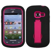 Black on Pink Symbiosis Dual Layer Hybrid Case for Samsung Galaxy Centura