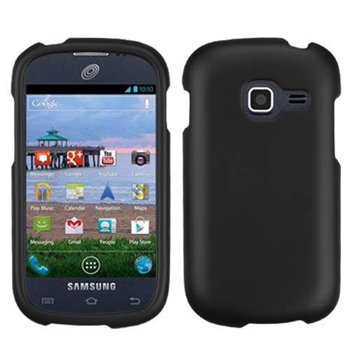 Black Rubberized Hard Case for Samsung Galaxy Discover