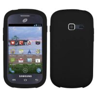 Black Silicone Cover for Samsung Galaxy Centura