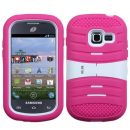 Pink on White Wave Symbiosis Dual Layer Hybrid Case for Samsung Galaxy Discover