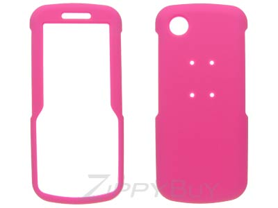 Samsung SGH-T349 Rubberized Hard Cover Case - Hot Pink
