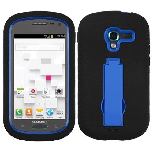 Black on Blue Symbiosis Dual Layer Hybrid Case for Samsung Galaxy Exhibit