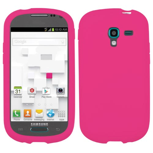 Hot Pink Silicone Cover for Samsung Galaxy Exhibit