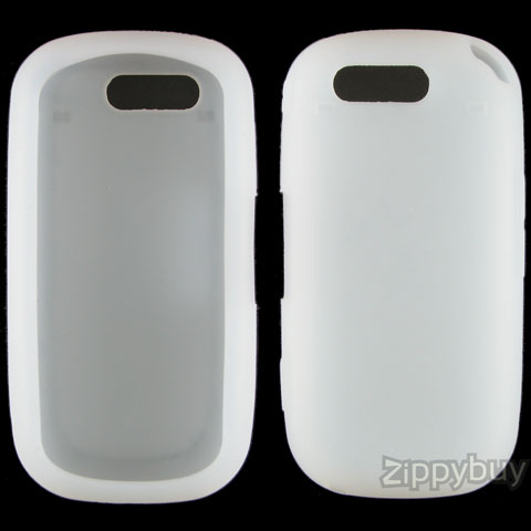 Samsung Highlight T749 Silicone Skin Cover Case - Frost White