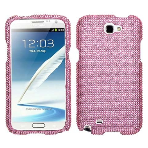 Pink Crystal Rhinestones Bling Case for Samsung Galaxy Note II