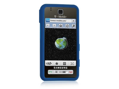 Samsung Behold T919 Silicone Skin Cover Case - Blue