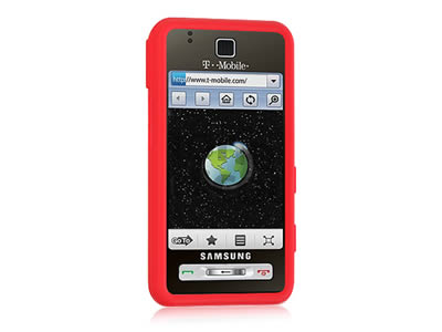 Samsung Behold T919 Silicone Skin Cover Case - Red