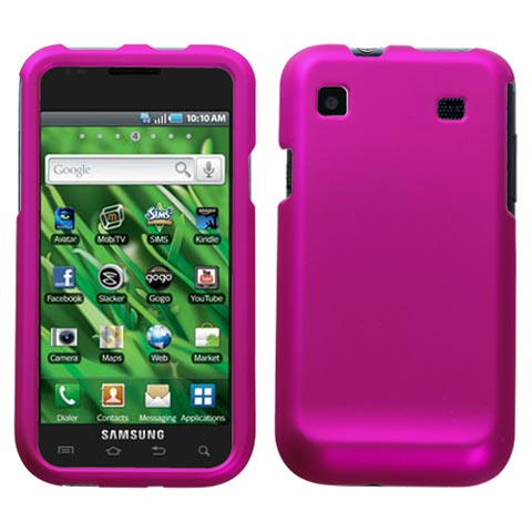 Hot Pink Rubberized Hard Case for Samsung Galaxy S 4G