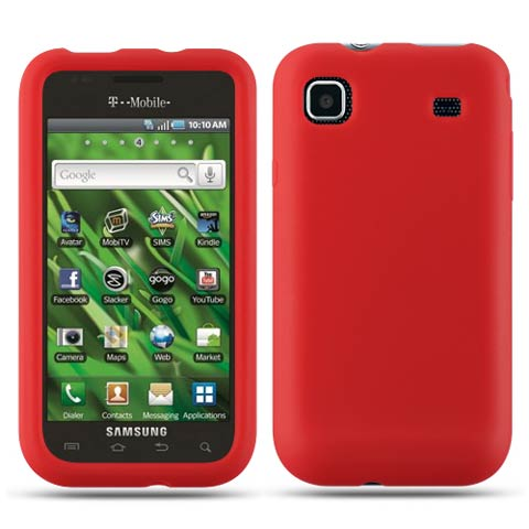 Red Silicone Skin Cover for Samsung Galaxy S 4G